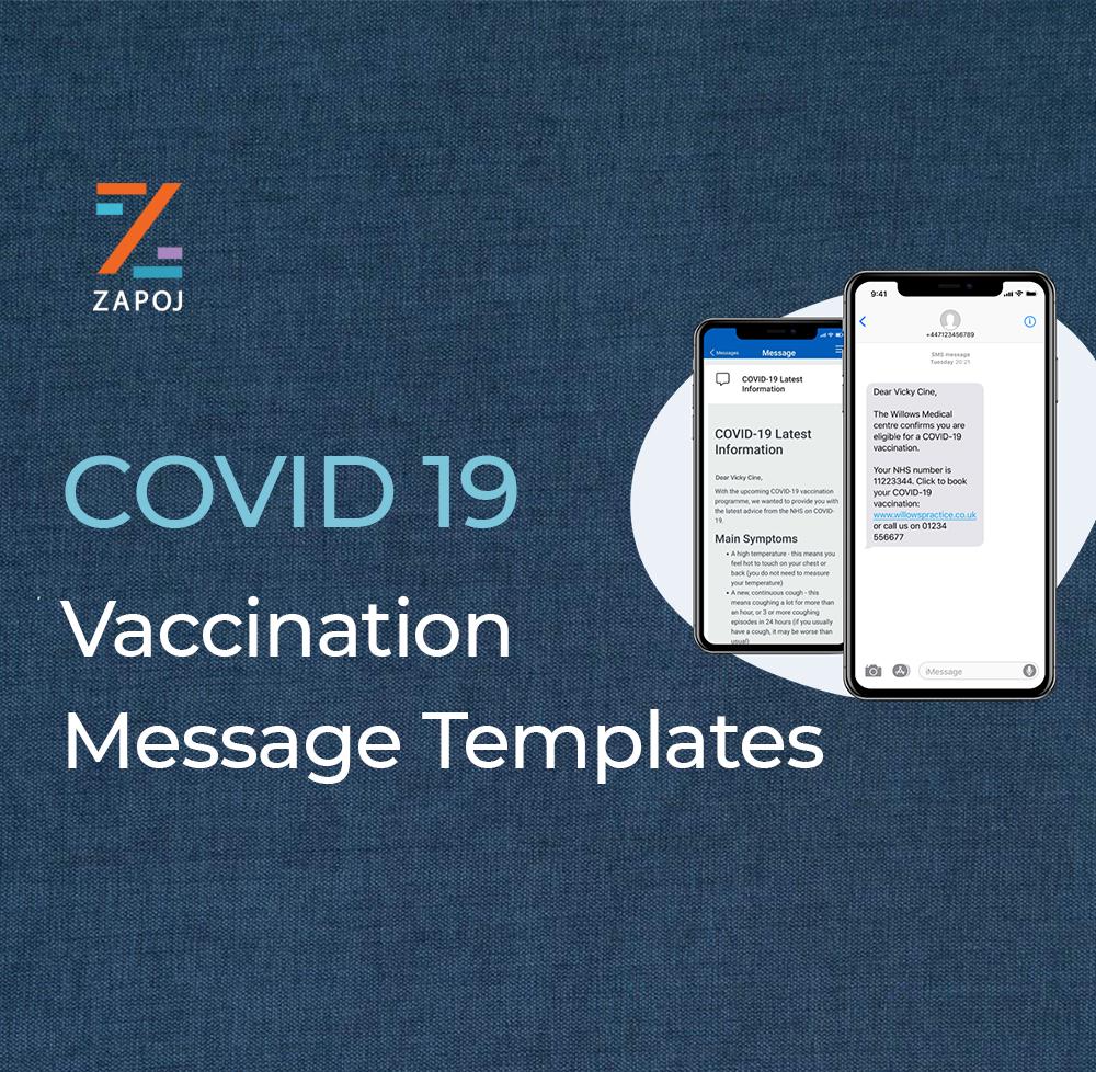 Vaccine Drive Message Templates - zapoj CEM