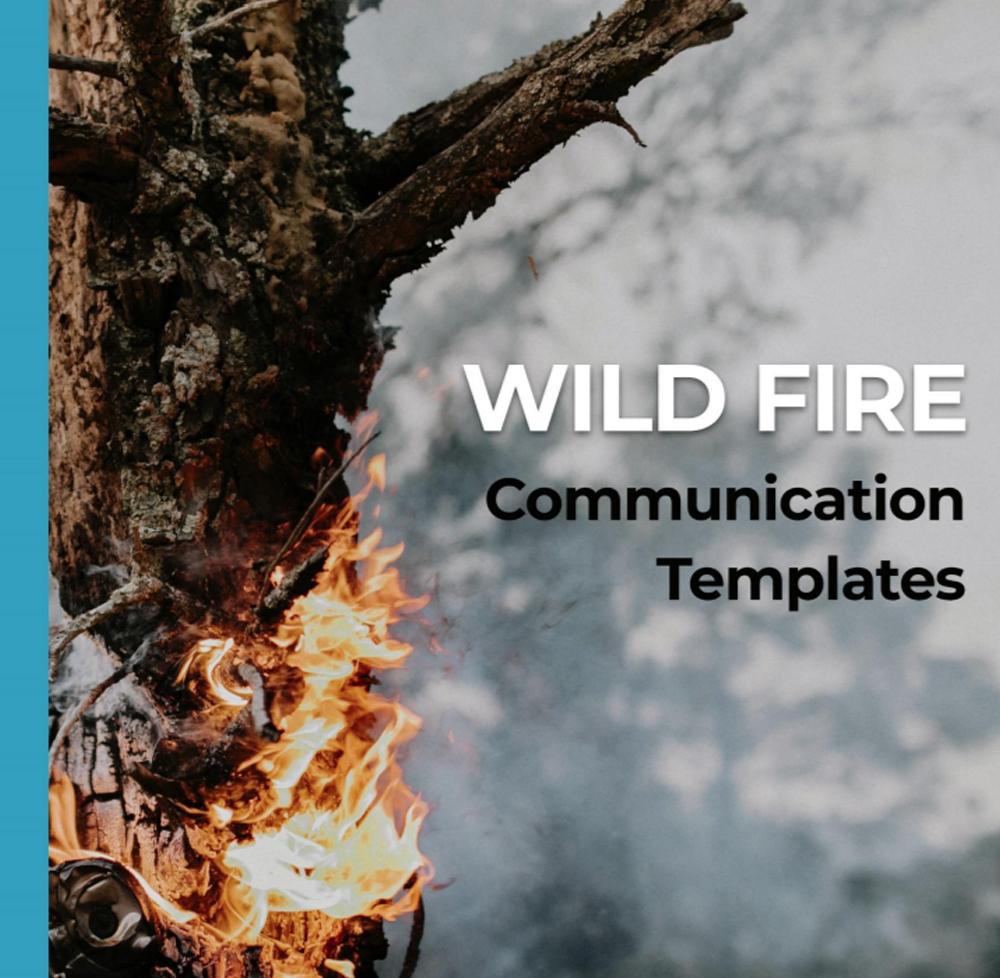 Wildfire communication Templates - zapoj Product material
