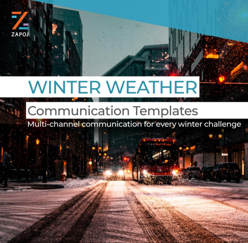 Winter Weather Communication Templates- zapoj product material